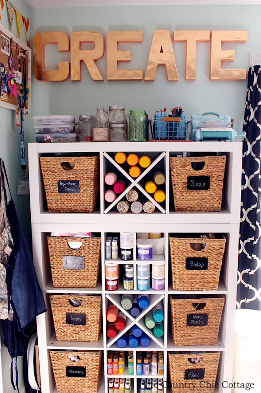 Organized craft room tour