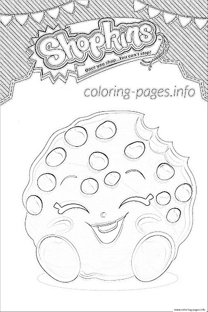 Shopkins Kooky Cookie Shoppies Colouring Print Shopkins Kooky Cookie  Shoppies Coloring Pages