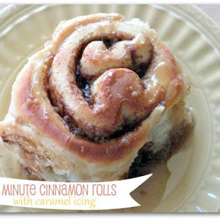90 Minute Cinnamon Rolls with Caramel Icing