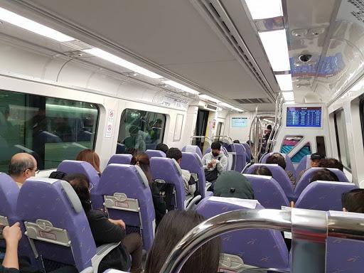 Taking the new Taoyuan Airport MRT in Taiwan