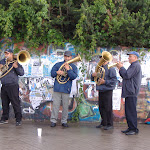 And some brass-playing buskers!