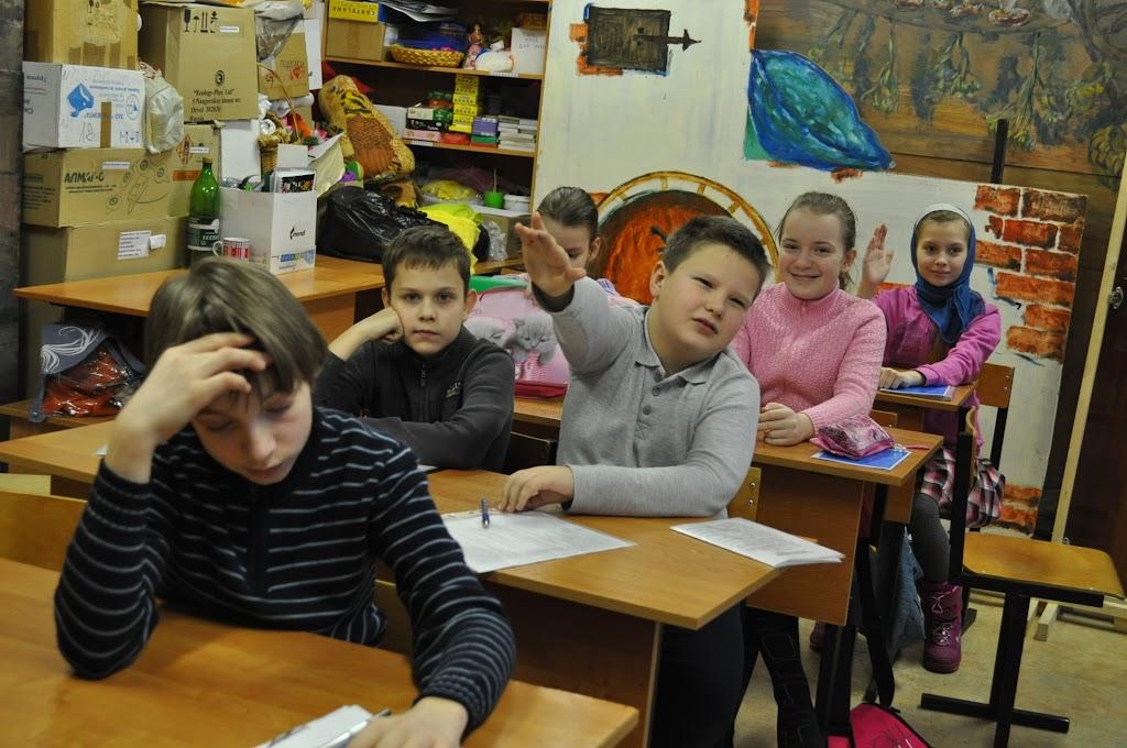 В воскресной школе прошли контрольные испытания за первое  В последнее воскресенье