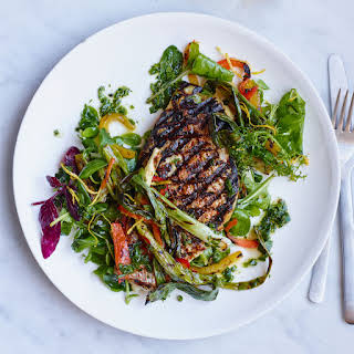 Grilled Snapper with Four-Herb Gremolata.