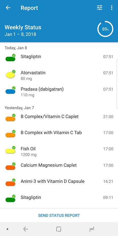 Pill Reminder and Medication Tracker by Medisafe- screenshot