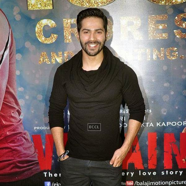 Varun Dhawan is all smiles during the success party of Bollywood movie 'Ek Villain', held at Ekta Kapoor's residence on July 15, 2014.(Pic: Viral Bhayani)