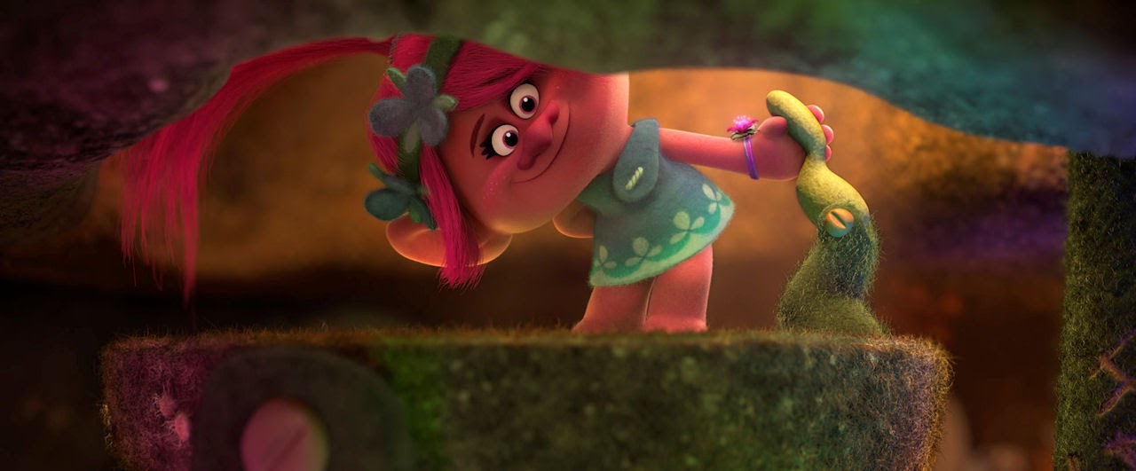 Poppy (voiced by Anna Kendrick) in DreamWorks Animation's TROLLS. (Photo courtesy of DreamWorks Animation).
