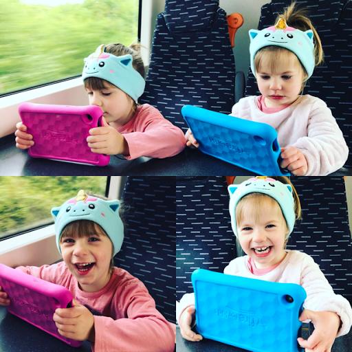 Cozyphones on a train
