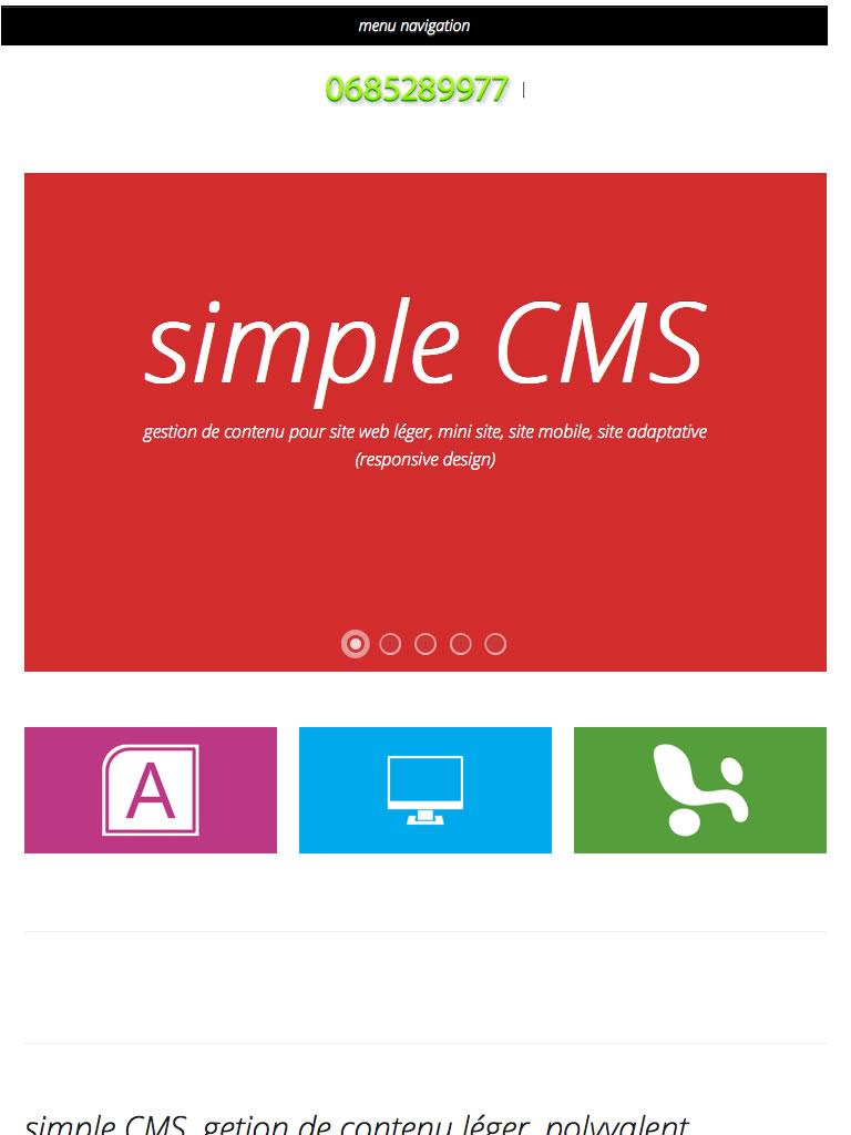 Bienvenue sur simple cms - simple CMS gestion de contenu simple et puissant - 768x1024