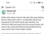 Netizen Buteng Dihebohkan Tulisan Akun Medsos Darwin Ali, Ini Maksudnya