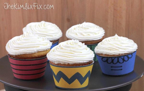 Peanuts gang cupcakes