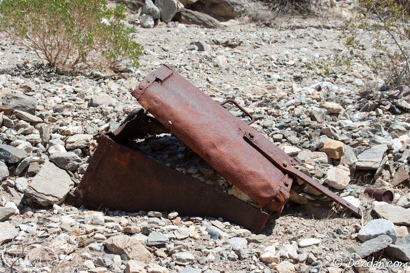 Nature has mostly reclaimed this ore cart.