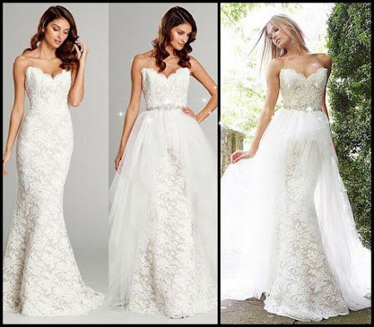 2 In 1 Wedding Dresses 40 Simple Photo