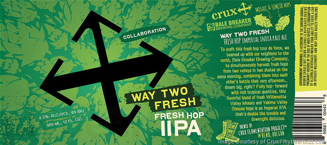 Crux Fermentation Project & Bale Breaker Collaborate On Way Too Fresh