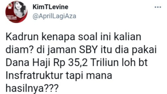 Serang SBY, Netizen: Puluhan Triliun Dana Haji Dipakai Buat Infrastruktur