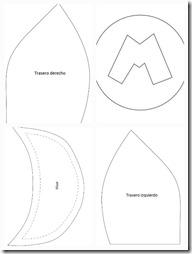 moldes gorra mario 2