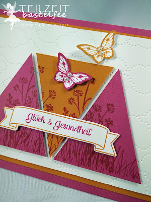 Stampin' Up! - In{k}spire_me #245, Sketch Challenge, Papillon Potpourri, In the Meadow, And many more, Eins für alles, So viele Jahre, Number of Years, Dreiecke, triangles, Prägeform Wolkenmeer, Embossing Folder Cloudy Day
