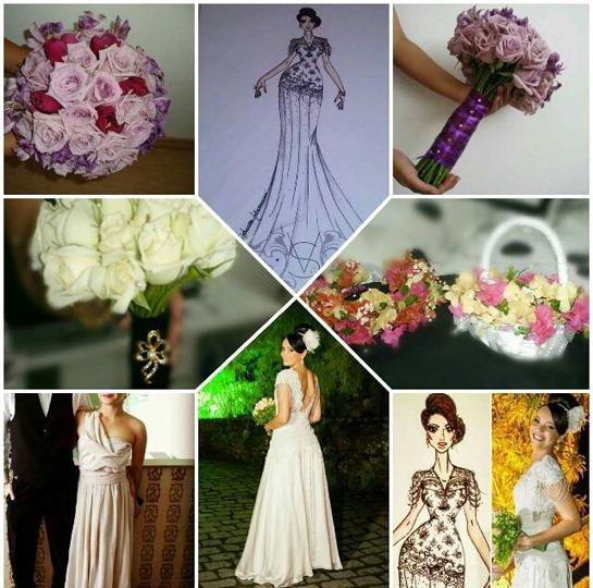 Foto 8 painel bouquets, madrinha, noiva