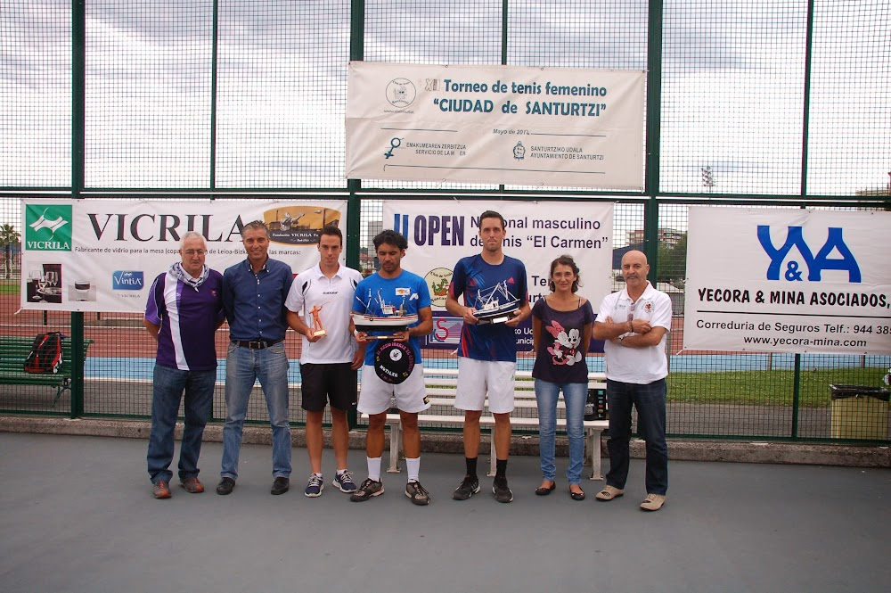 II Open de tenis El Carmen. Finalistas. Santurtzi