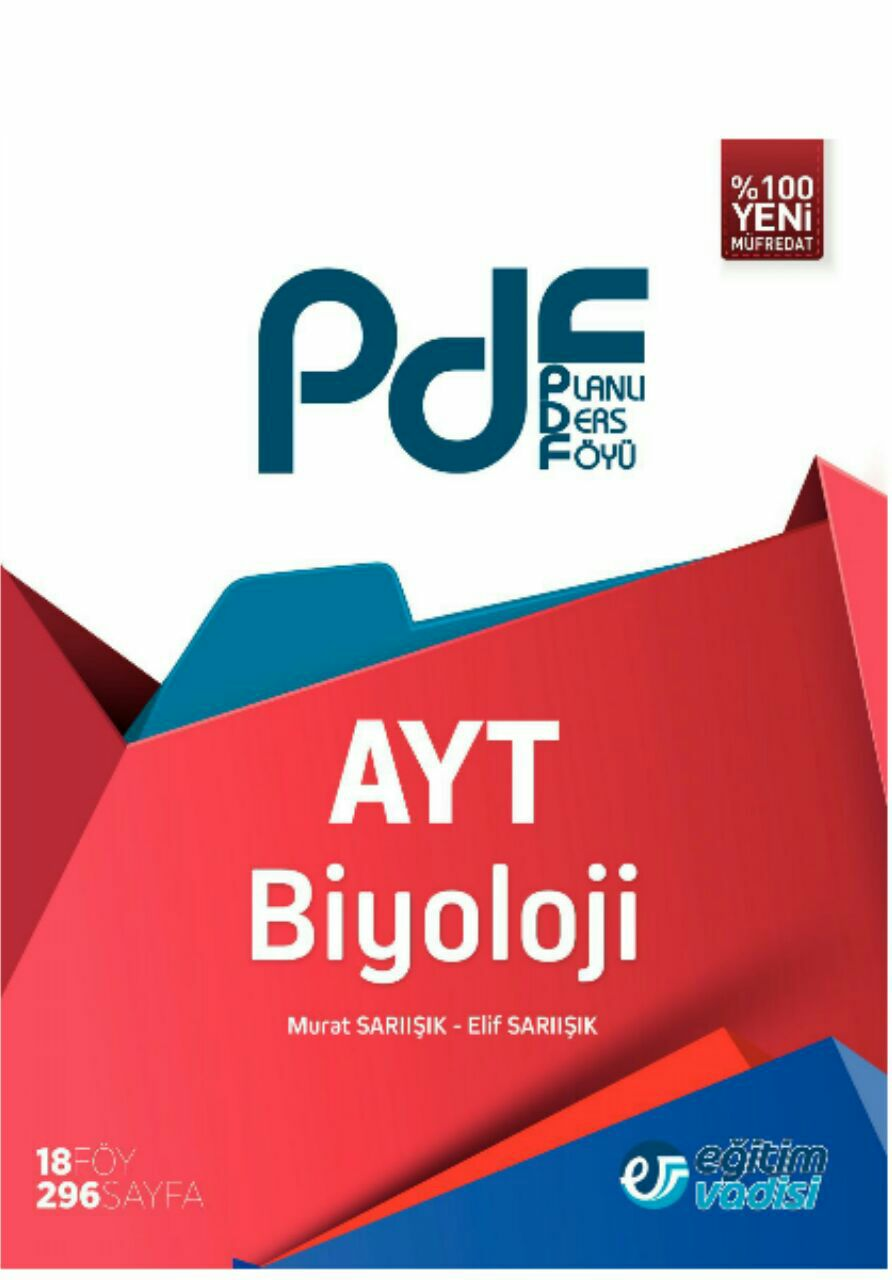 Eğitim Vadisi AYT Biyoloji Planlı Ders Föyü (2019-2020)