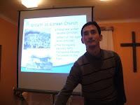 Martin mluví o rostoucí církvi v Koreji.