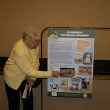GWBHS member & WBSD graduate, Nancy Salo points out family members in the photo she donated.