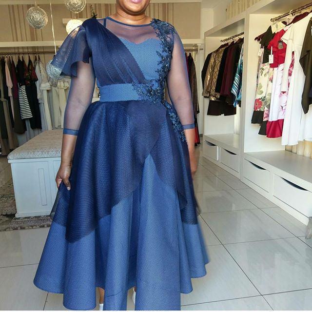 Trendy Shweshwe Dresses Styles For Woman 2019 3