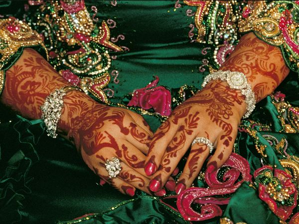Oman - henna tattoos for a wedding (photo credit: National Geographic magazine)