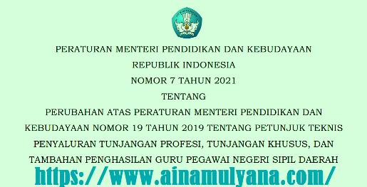 Permendikbud Nomor 7 Tahun 2021