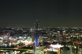 View of Yokohama at night