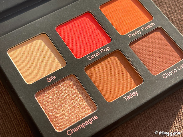 VIOLET VOSS Coral Pop Eyeshadow Palette Review Photos