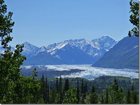 Matanuska Glacier, Chugach Mountain Range, Glenn Highway between Glennallen and Palmer
