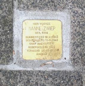 Ds. Nanne Zwiep - Thorbeckelaan 20  - Stolperstein Enschede