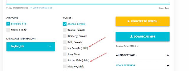 cara buat suara google mirip anak kecil