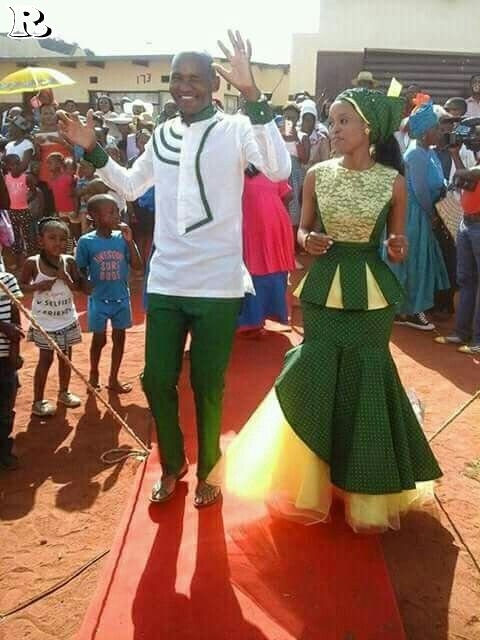 Green shweshwe dresses