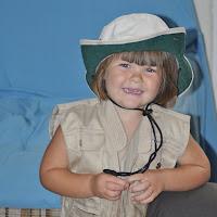 Rachel ready for safari!