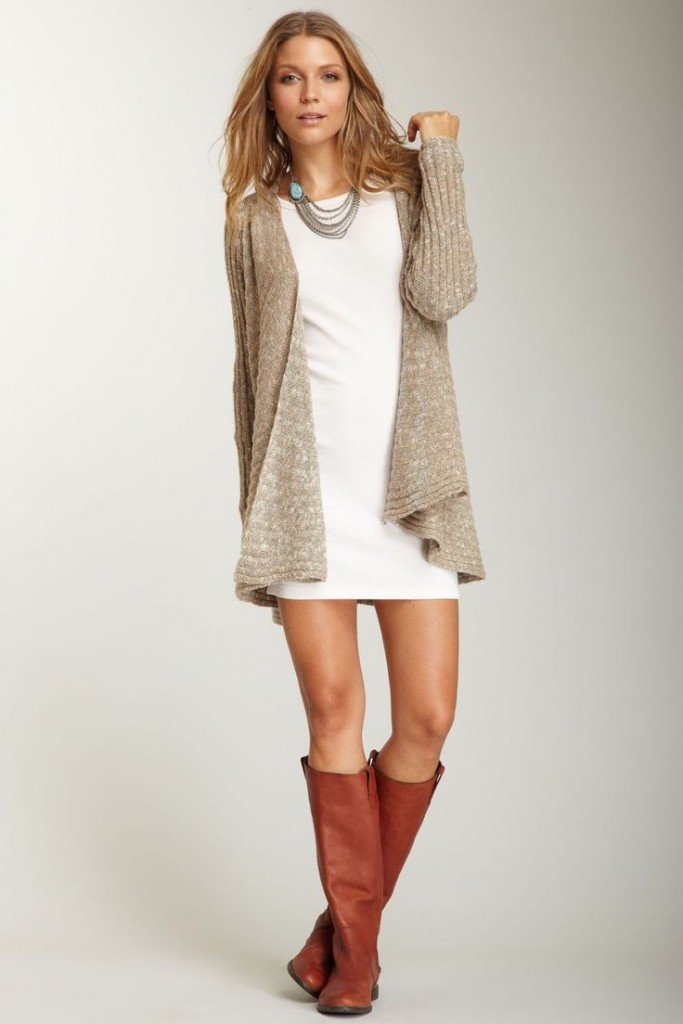 long cardigan sweater outfits for 2016