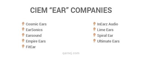 ciem ear companies
