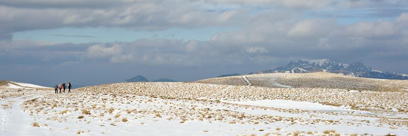 Intalnind din nou pentru o scurta bucata de drum iarna din Grohotis, intre Bobul Mic si Bobul Mare.