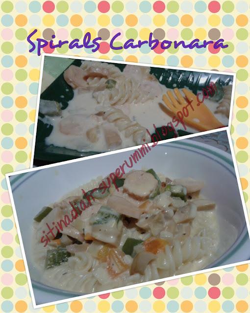 resepi carbonara mudah  kos murah makan  pasta   suka coretan nad Resepi Pasta Angel Hair Enak dan Mudah
