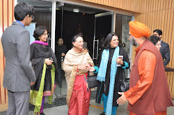 Greeting Mrs Kushal Singh and Punita Sngh