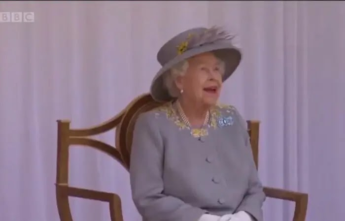 The Queen joined by Duke of Kent at Trooping the Color 2021