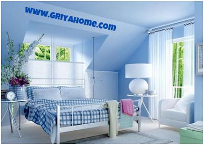 Cat Rumah Bagian Dalam Berwarna Biru