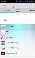 Screenshot of iWant TV