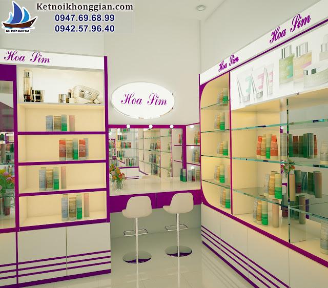 thiết kế shop mỹ phẩm chuyên nghiệp tại hà nội