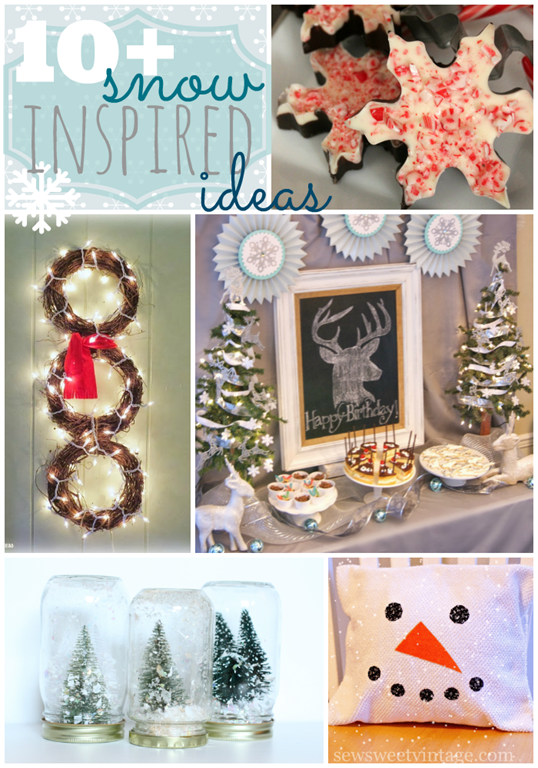 Over 10 Snow Inspired Ideas at GingerSnapCrafts.com #snow #linkparty #features_thumb[2]