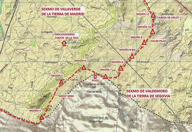 Mapa mojones 4 a 11