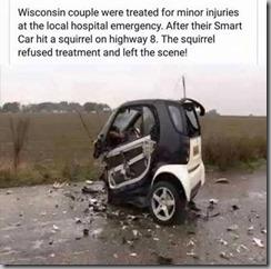 smart car wreck