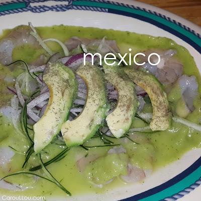 CarouLLou.com Carou LLou in Mexico city aguachile de camarones +