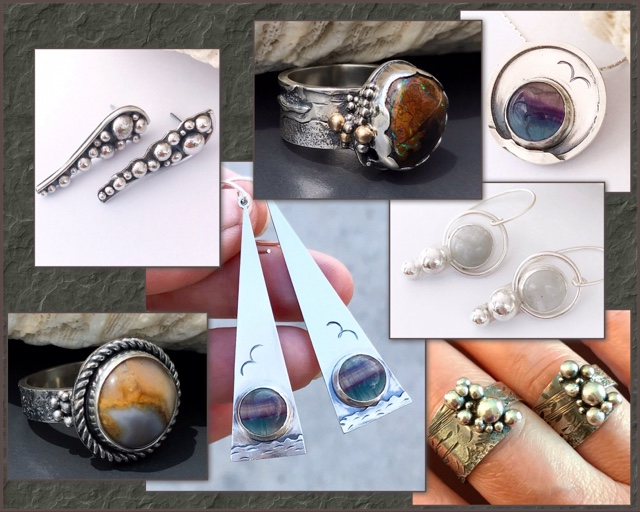 Seascape Collection of sterling silver jewelry by MosaicSmith