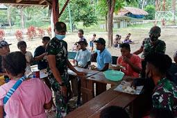 TNI Satgas Yonif 131/Brs Kuatkan Ikatan Silaturahmi di Papua